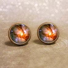 Load image into Gallery viewer, Sunset Galaxy Earrings - Post Style - Jax Allen Designs
