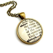 Load image into Gallery viewer, Sister Sisterhood Definition Necklace - Jax Allen Designs