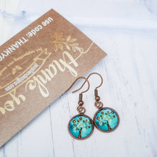 Load image into Gallery viewer, Tree of Life Turquoise Earrings - Jax Allen Designs