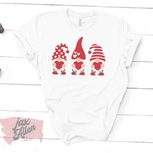 Load image into Gallery viewer, Valentine's Gnome - Valentine's Day Shirt for Women, Gnome Shirt, Gnome Gifts, Sweet Friends, Popular Gifts, Dark Grey Shirt
