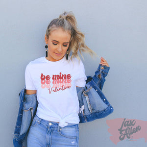 Valentines Day Shirt for Women - Be Mine, Retro Valentine, Valentine Gift, Plus Size T Shirts, White T Shirt, Cute T Shirts, Valentine's Day