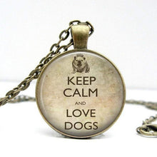 Load image into Gallery viewer, Keep Calm and Love Dogs Necklace - Jax Allen Designs
