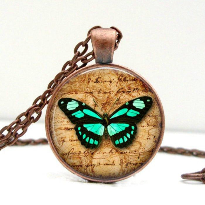 Turquoise Butterfly Necklace - Jax Allen Designs