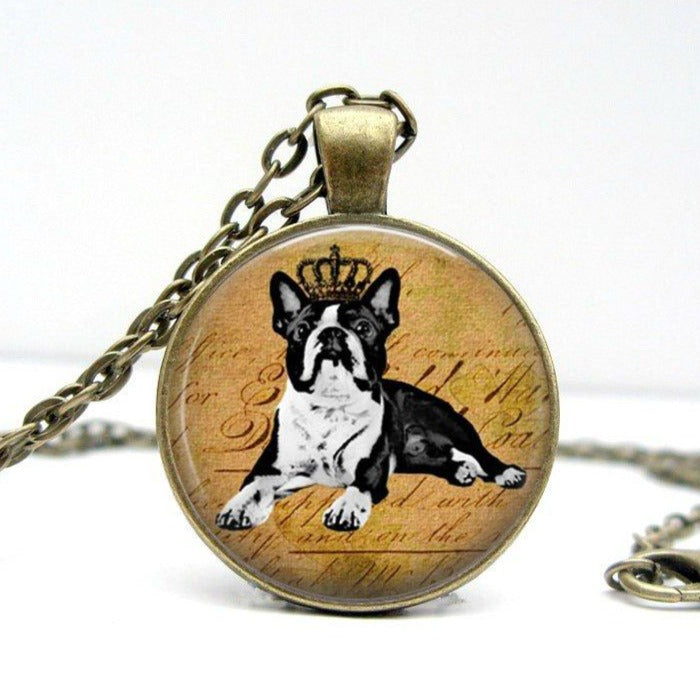 Boston Terrier Necklace - Jax Allen Designs