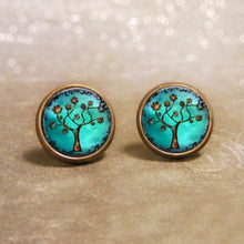 Load image into Gallery viewer, Tree of Life Post Earrings - Jax Allen Designs