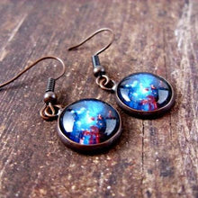 Load image into Gallery viewer, Space Sparkle Dangle Earrings - Jax Allen Designs