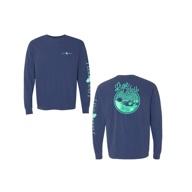 Wavy Jeep Long Sleeve Comfort Colors