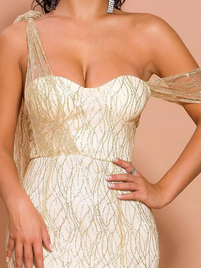 Lucia Gold Glitter Gown
