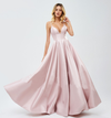 Ambika Satin Formal Gown - Pink
