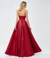 Ambika Satin Formal Gown - Red