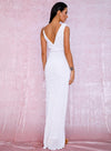 Misha Sequins Gown - White
