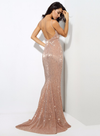 Kianna Sequins Gown - Champagne