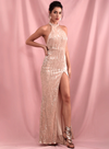 Tessa Sequins Gown - Champagne