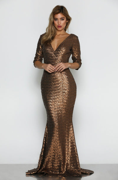 Milan Sequin Gown
