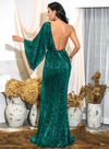 Milano Sequins Gown - Green
