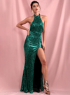 Tessa Sequins Gown - Green
