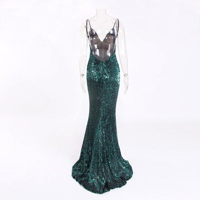 Kianna Sequins Gown - Green