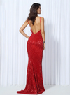 Kianna Sequins Gown - Red