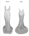 Kianna Sequins Gown - Silver