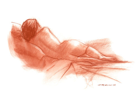 Study in Red reclining