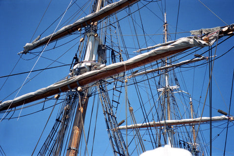 Masts in Blue