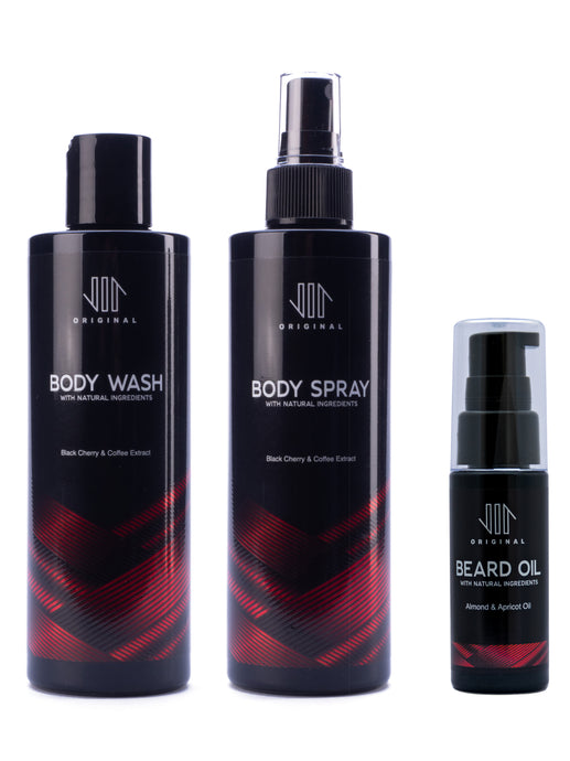 Body Wash, Body Spray, Beard Oil, Gift Set, Vir Original, Mens Grooming