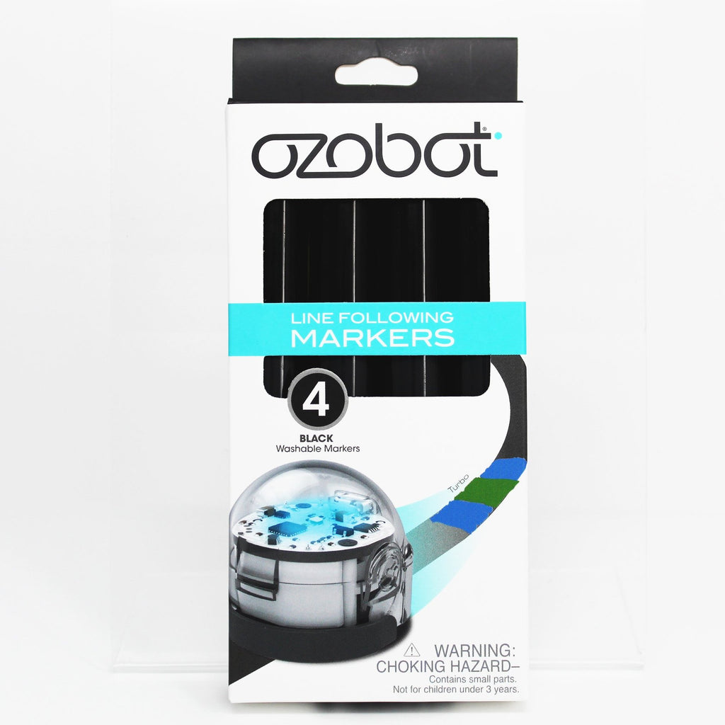 Ozobot Washable Markers, Black