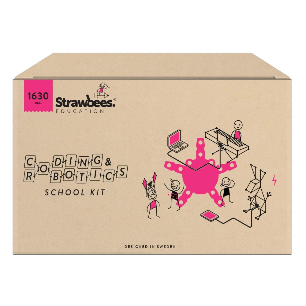 Strawbees Coding & Robotics School Kit
