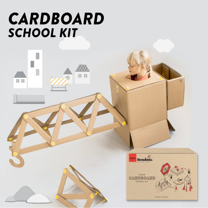 Strawbees Cardboard School Kit