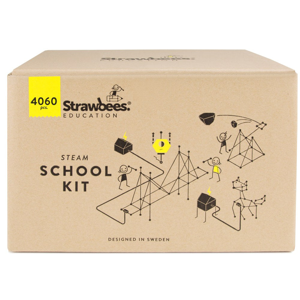 Strawbees STEAM School Classroom Building Set