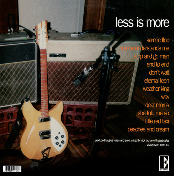 Even - Less Is More (REMASTERED - Limited Edition BLACK VINYL)