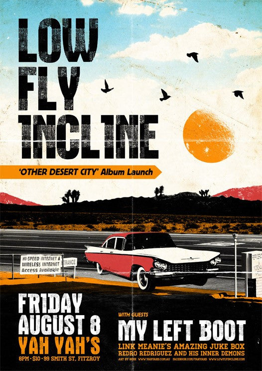 Low Fly Incline - Launch Poster