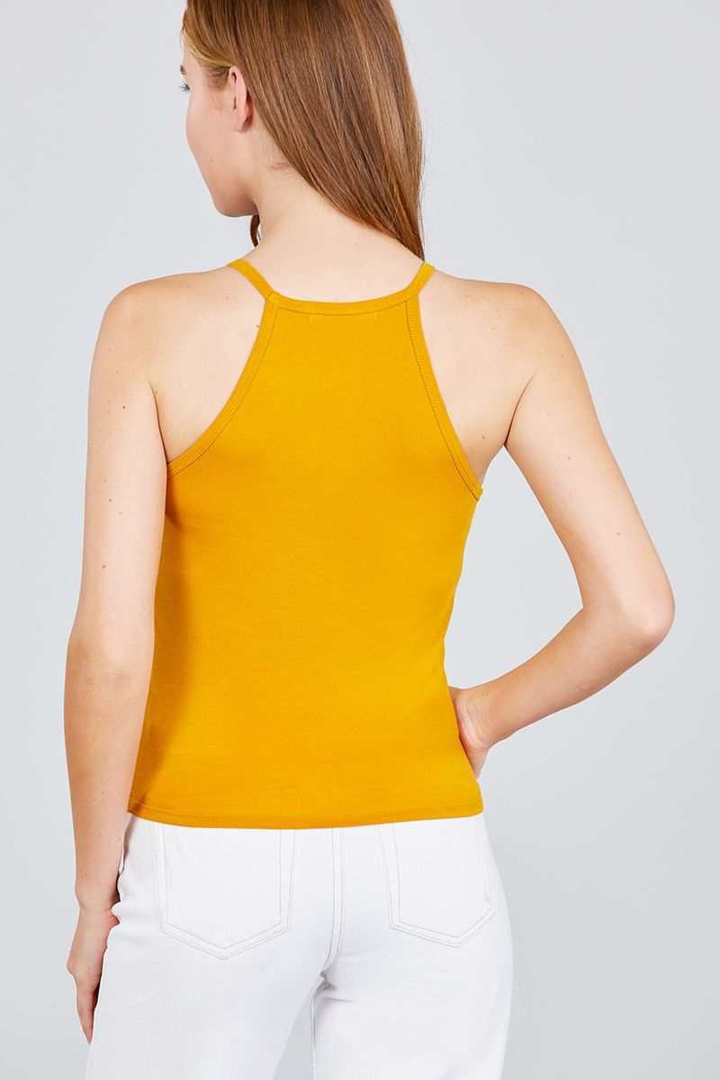 Halter Neck Knit Top