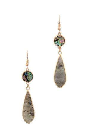 Teardrop Shape Dangle Drop Earring