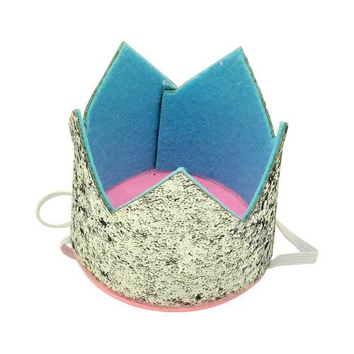 Glitter Party Hats - Kit&Co glitter and blue