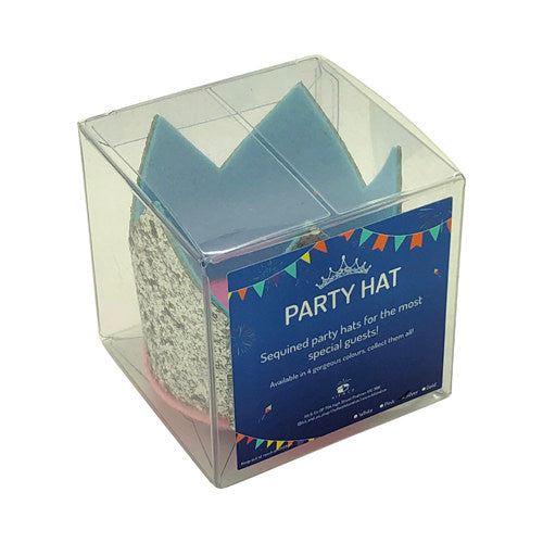 Glitter Party Hats - Kit&Co Blue and Silver