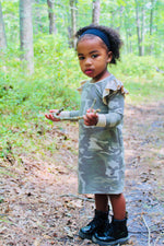 Load image into Gallery viewer, Camouflage Flutter Sleeve Dress (toddler -tween)