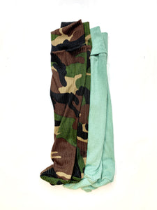 Camouflage Footie Tights and Matching Headband Bundle