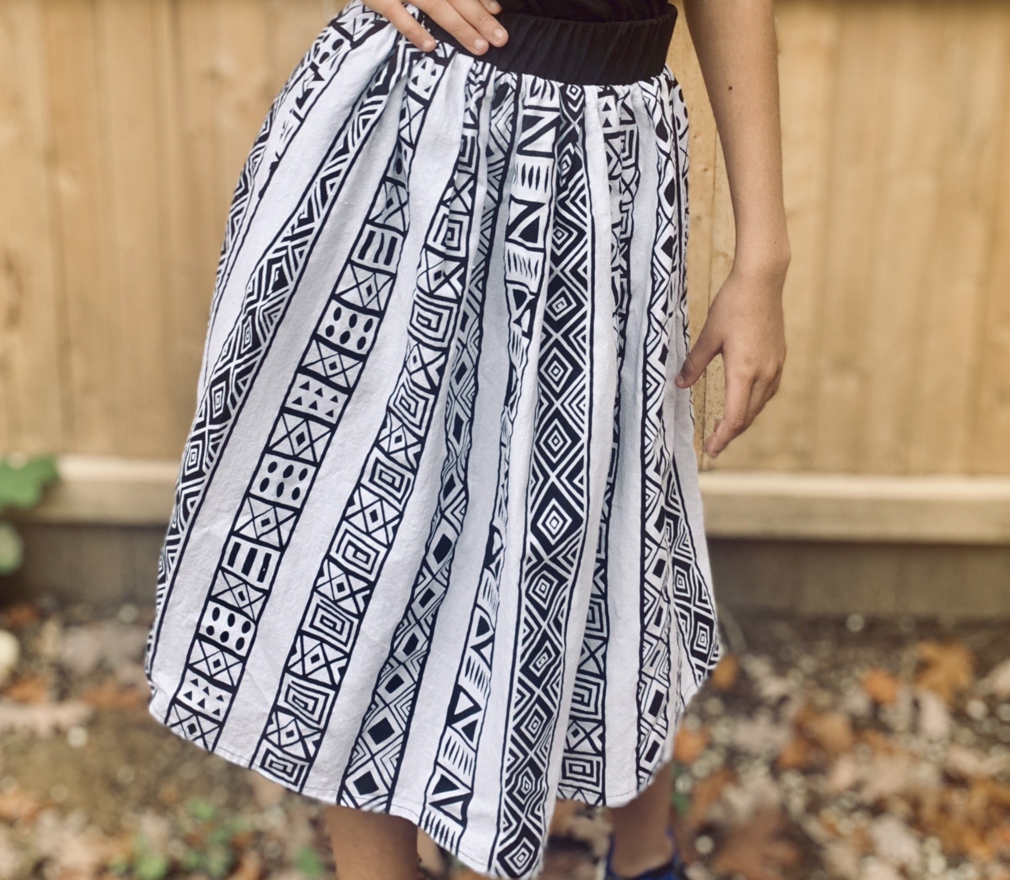 African Print Skirt (with pockets)