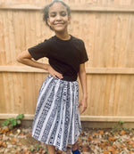 Load image into Gallery viewer, Kids African Print Skirt (with pockets) Toddler to Tween