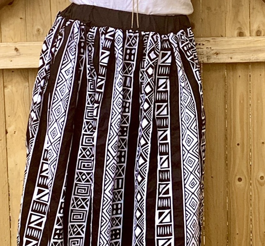Kids African Print Skirt (with pockets) Toddler to Tween