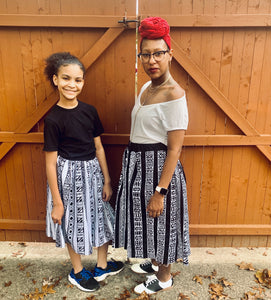 Mommy and Me African Print Skirts (with pockets)