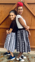 Load image into Gallery viewer, Mommy and Me African Print Skirts (with pockets)