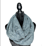 Load image into Gallery viewer, Teal Hidden Pocket Infinity Scarf