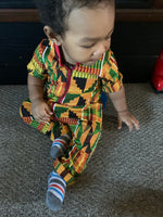 Load image into Gallery viewer, African Print Kente Romper (Gender Neutral)