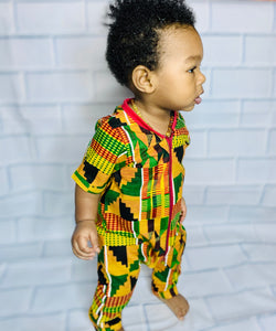 African Print Kente Romper (Gender Neutral)