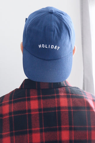 HOLIDAY Embroidery Cap - Blue