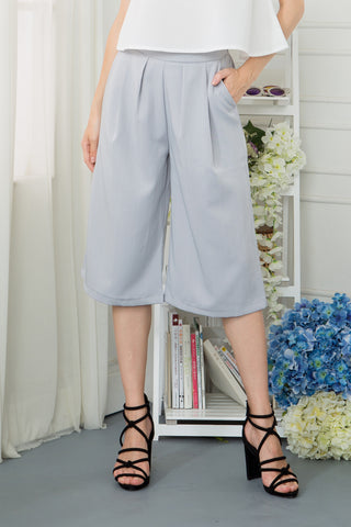 Pinstripe Cropped Wide Leg Trouser
