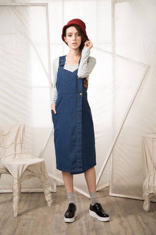 Shalex Denim Overall Dress