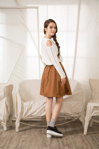 Satin-Look Midi Skirt